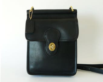 Coach Murphy Black Leather Crossbody Shoulder Bag