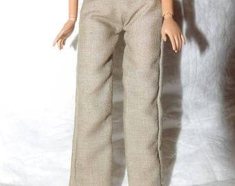 Fashion Doll  Coordinates - Solid tan pants - es439