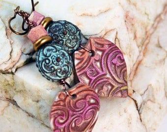 Greek Patina Bright Bohemian Earrings