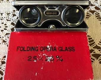 Vintage Folding Opera Glasses or Sports Glasses