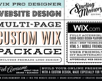 RESERVED for ELIZABETH - 3 Page Custom Wix Website Design Package w/ Custom PreMade Logo
