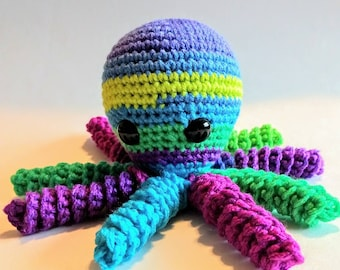 Octopus, Crochet Octopus, Christmas Gift, Baby Shower Gift, Gift, Comfort Toy, Stuffed Octopus, Sea Animal, Handmade, Ready to Ship, Present