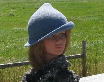 Fleur delacour Beauxbaton Academy Hat Harry Potter Heather Blue Knit Felt Special Order Only