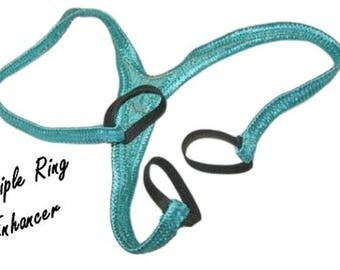 Men's Thong ENHANCER Triple Ring Lift Kit Natural Male Enhancement Lingerie NEW COLORS