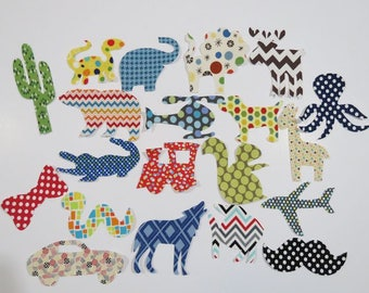 50 Assorted Baby Boy Iron On Appliques Baby Shower Activity