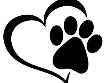 Pawprint Love Vinyl Decal Sticker