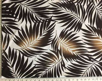 Lycra Fabric Remnant Hawaiian Leaves Floral Print Lycra Swimwear Fabric Crafts Sewing YR60B