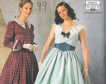 Simplicity 7312 Misses Civil War Dress Costume Sewing Botsford Size 16, 18, 20 Uncut Southern Belle Gone With The Wind