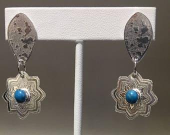 Handfabricated sterling silver earrings