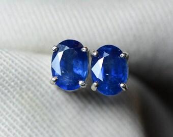 Sapphire Earrings, Blue Sapphire Stud Earrings 2.31 Carat Appraised at 1,850.00, September Birthstone, Real Genuine Natural Jewelry