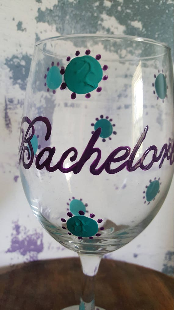 Bachelorette Wine Glass, Bridal Shower Wine Glass, Bride Wine Glass