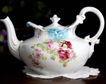 2 Cup Teapot, Antique Tea Pot, Bavaria Germany - 14075