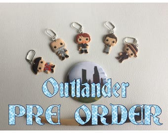PRE ORDER for Outlander inspired stitch markers -5pcs