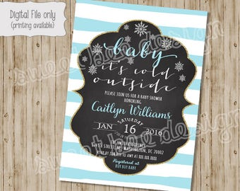 Baby it's Cold Outside Baby Shower Invitation, Baby It's Cold Outside Invitation, Winter Baby Shower, Christmas Baby Shower Invitation, Baby