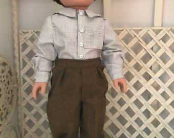 Shirt and Slacks American Boy Doll or 18 inch Boy Doll