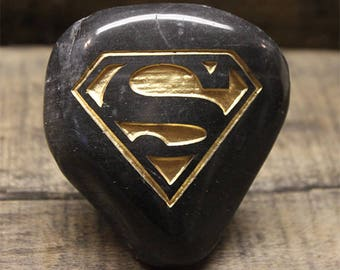 Engraved Rock, Superman -- FREE SHIPPING!