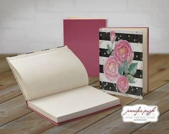 Floral A 5x7 Hardback Bound Journal -Inspirational, Word Art