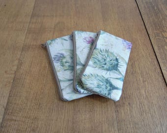 Thistle Print Voyage Matt Oilcloth Glasses Spectacle Case