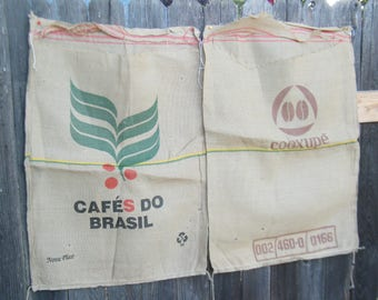 Cafes Do Brasil, Product of Colombia Jute Coffee Sacks