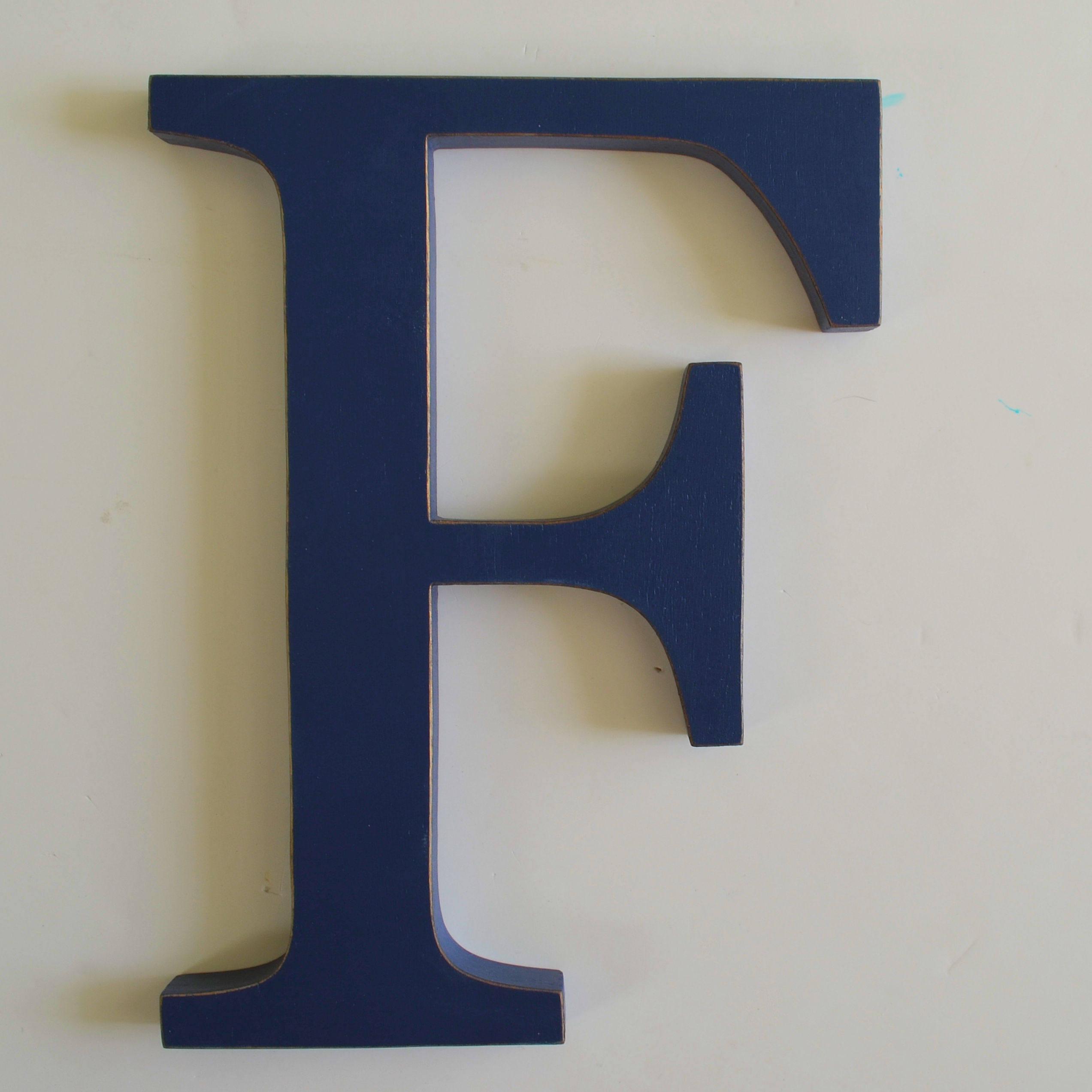 Wooden Letter F 12 Inch Nursery Letter Wood Wall Letters