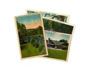 4 Vintage Brevard North Carolina Unused Postcards Blank- Unique Travel Wedding Guest Book, Reception Decor, Travel Journal Supplies