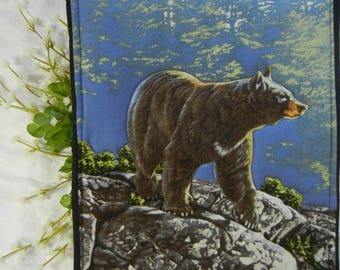 Quilted Trivet - Adirondack Bear