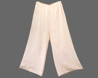1930s Rayon Lounge Pants, Size Small