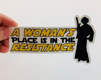 a woman's place is in the resistance silhouette | nasty woman | vinyl sticker