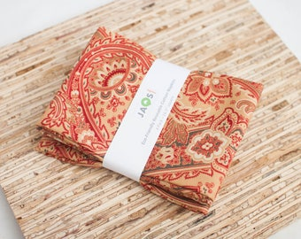 Large Cloth Napkins - Set of 4 - (N4571) - Camille Paisley Modern Reusable Fabric Napkins