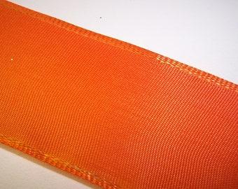 Pumpkin Orange Wire Edge Ribbon 2 Yards