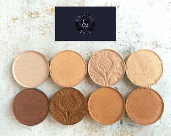 Eyeshadow Palette-Mineral Makeup-Makeup Palette-Orange-Oranges-Vegan Makeup-Natural Makeup-Eye Shadow Singles-Charlsie & Fain-Peach