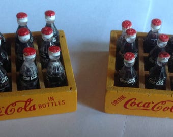 Miniature set of 2 Cases of Coco Cola  for Dollhouse