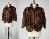 1940s cape | fur cape | brown fur capelet | 1940s vintage cape | 1940s fur cape | Russian red squirrel fur cape