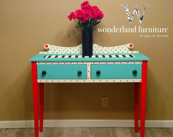 Lovely SOLD Eloise The Sideboard Buffet Console Entry Table Foyer Table Stripe  Polka Dot