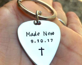Made New, Christian Gifts, Pick Keychain ,Custom Orders , Personalized Pick Keychain, God, Jesus, Natashaaloha