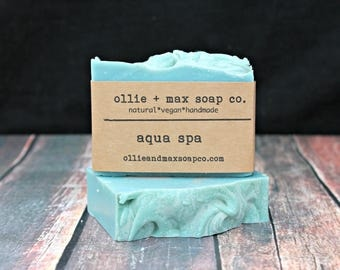 Aqua Spa Cold Process Soap, Vegan Soap, Handmade Soap