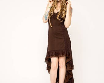 Hooded Dress- Witchy Dress- Gypsy Dress- Black Dress- Festival Gear- Burning Man