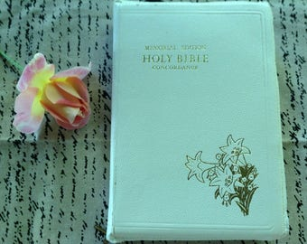 White Bible for Wedding Bouquet