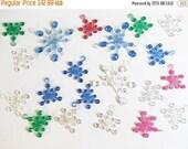 40% OFF NOW Translucent Plastic Snowflake Ornaments, Vintage Plastic Snowflake Ornaments, Interlocking Plastic Ornaments, Multicolor Plastic