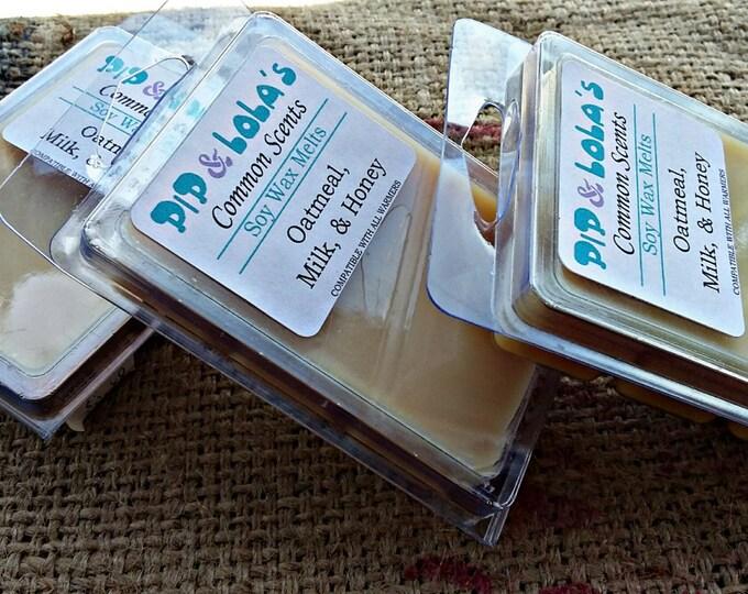 Oatmeal, Milk, Honey Wax Melt - Pip & Lola's Common Scents - Soy Candle Wax, Wax Melt, Soy Wax, Clamshell Melts, Candle melt, Wax warmer
