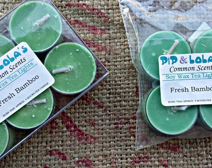 Fresh Bamboo Tea Lights - Pip & Lola's Common Scents - Soy Candle Wax, Tea Lights, Soy Wax, EcoSoy, Candle, Lightly Scented