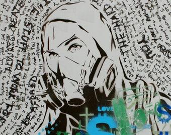 Graffiti Artist Street Art 16x20 POST MODERN PROPHETS Version 12 Pop Art Inspired Original Painting Spray Paint Acrylic Graffiti on Canvas