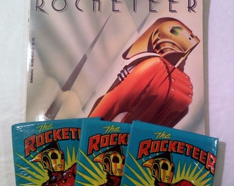 Disney's ROCKETEER Book and Trading Cards