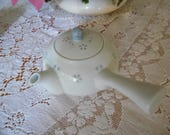 Porcelain Chinese Rice Eye Side Handle Teapot Rice Grain Translucent Teapot