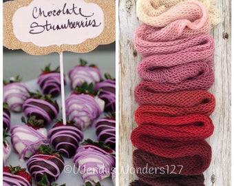 Gradient Yarn, Hand Dyed Yarn, Yarn, Fingering Weight Yarn, Strawberry Valentines