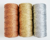 SALE* Solid Copper Twine or Gold Twine or Silver Twine 110 yards of Solid Metallic Bakers Twine