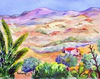 Caltanissetta  Sicilia Landscape