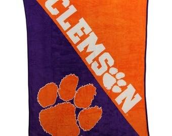 NCAA Fleece Panel Tie Blanket