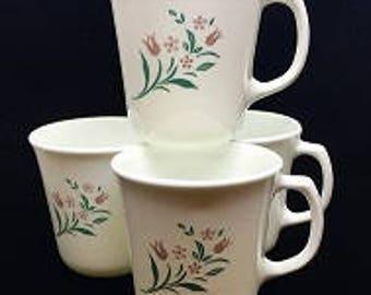 "Set of 4 Vintage Corning ""Rosemarie"" Cups"