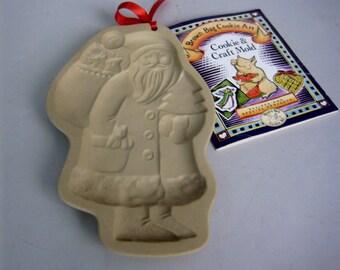 Brown Bag Cookie Mold,  Brown Bag Cookie Art,  1983 Santa Clause Mold, Hill Design,  Brown Bag Cookie Stamp,